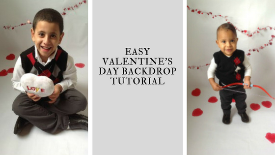 Easy DIY Valentine's Day Backdrop Tutorial graphic